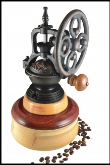 """""""Antique"""" Coffee Mill #2016, lathe turning, wood, coffee mill"""