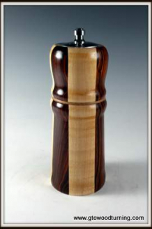 Combination Pepper Mill & Salt Shaker, Cocobolo, Maple