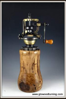 """Wormy Butternut """"Antique"""" Pepper Mill, adjustable, gift"""