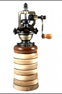 "#1108 Maple & Mahogany ""Antique"" Style Pepper Mill"