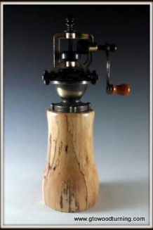 """Antique"" Style Pepper Mill in Spaulted Maple"