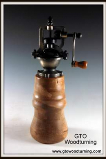 """Antique"" Style Pepper Mill in Maple"